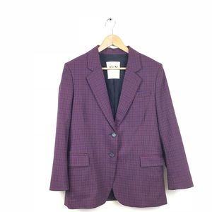 AVN Jacket Boyfriend Blazer Wool Print 40 Red